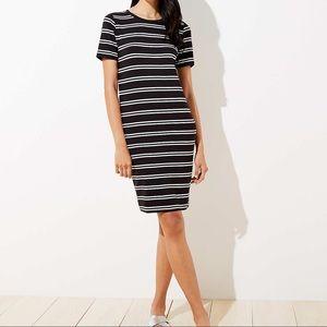Loft striped tee dress short sleeves crew neck